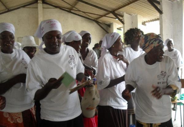Kampanj för hälften kvinnor Foto: Palmecentret