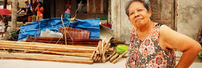 Filippinerna efter tyfonen. Foto: Palmecentret