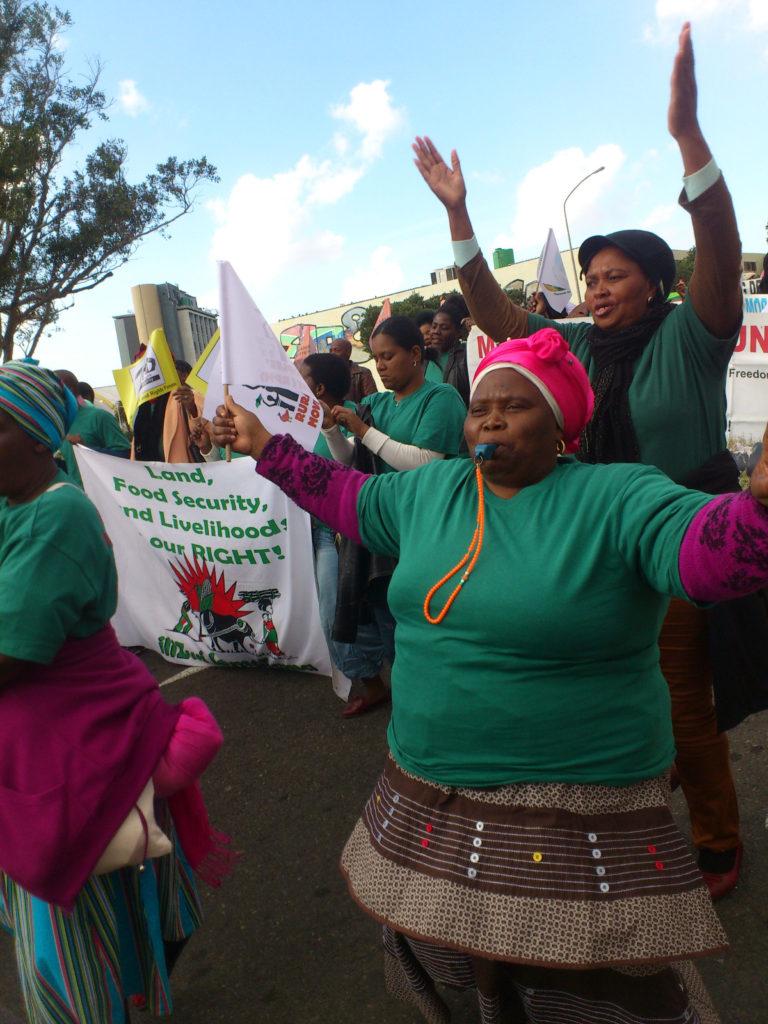 Demonstration för jordreform i Sydafrika Foto: Mikael Layi