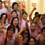Manifestation på Internationella Kvinnodagen den 8 mars 2014 i Manila, Filippinerna. Foto: Palmecentret