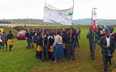 istriktet uMgungundlovu i KwaZulu-Natal  under lanseringen av en kampanj som distriktets aidsråd inledde 2012