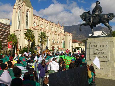 Sydafrika: Demonstration för landreform