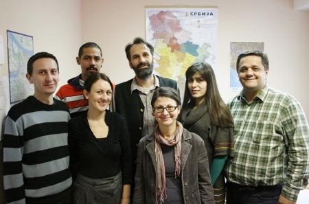 Zoran Gavrilović syns längst till höger på bilden, tillsammans med sina medarbetare på Birodi.