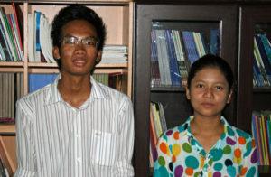 Khine Zar Chi och Si Thu Tu. Foto: John Runeson