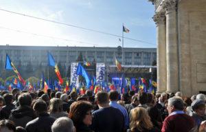 Demonstration i Chisinau. Foto:  Åsa Odin Ekman