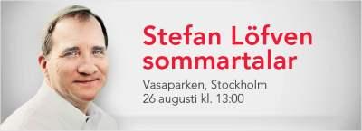 Stefan Löfven sommartalar 2012
