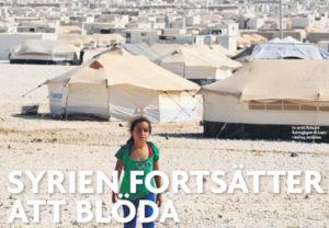 """""""Syrien fortsätter att blöda"""". Foto: Muhammad Haned/Scanpix"""