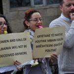 Demonstration i Albanien 8 mars