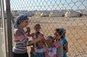 Flyktingläger i Turkiet.
