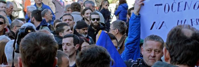 Demonstration i Bosnien och Hercegovina, 2014. Foto: Thomas Edin.