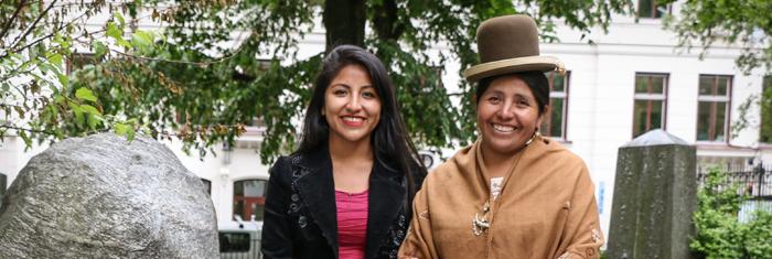 Evaliz Morales och Fransisca Alvarado Pinto. Foto: Andrés Luna