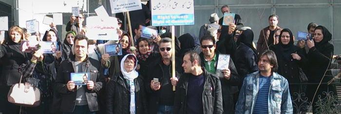 Fackliga aktivister i Iran