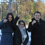 Eli Manchevska, Elena Laslo och Gjorgi Tasev. Foto: Palmecentret