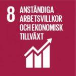 Globala målen, mål 8: Anständiga arbetsvillkor och ekonomisk tillväxt.